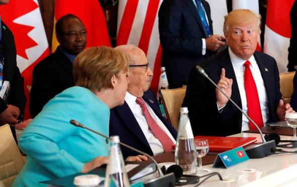 (تصاویر) اولین حضور ترامپ میان سران گروه7