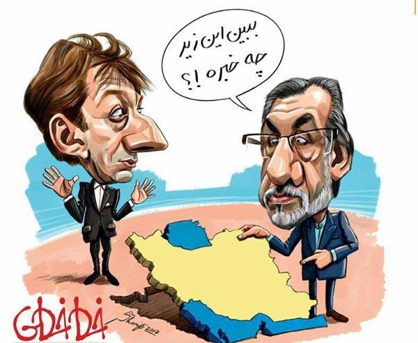 (کاریکاتور) پاس گل خاوری به بابک زنجانی!