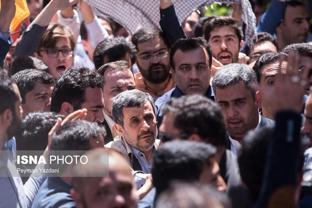 (تصاویر) احمدینژاد در راهپیمایی روز قدس