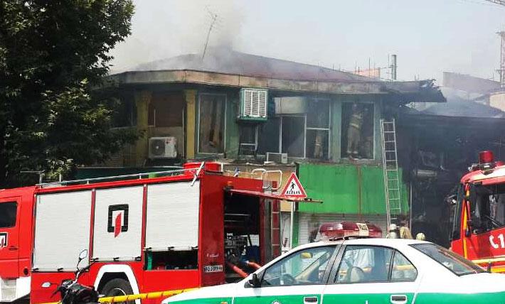 (ویدئو) آتشسوزی گسترده در شمال تهران