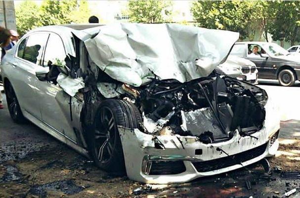 (تصاویر) تصادف سنگین بیامو زیر پل صدر