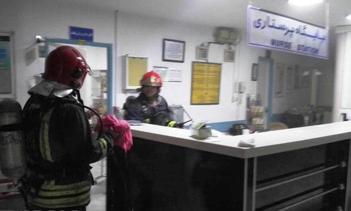 (تصاویر) مهار آتشسوزی در بیمارستان مهر اهواز