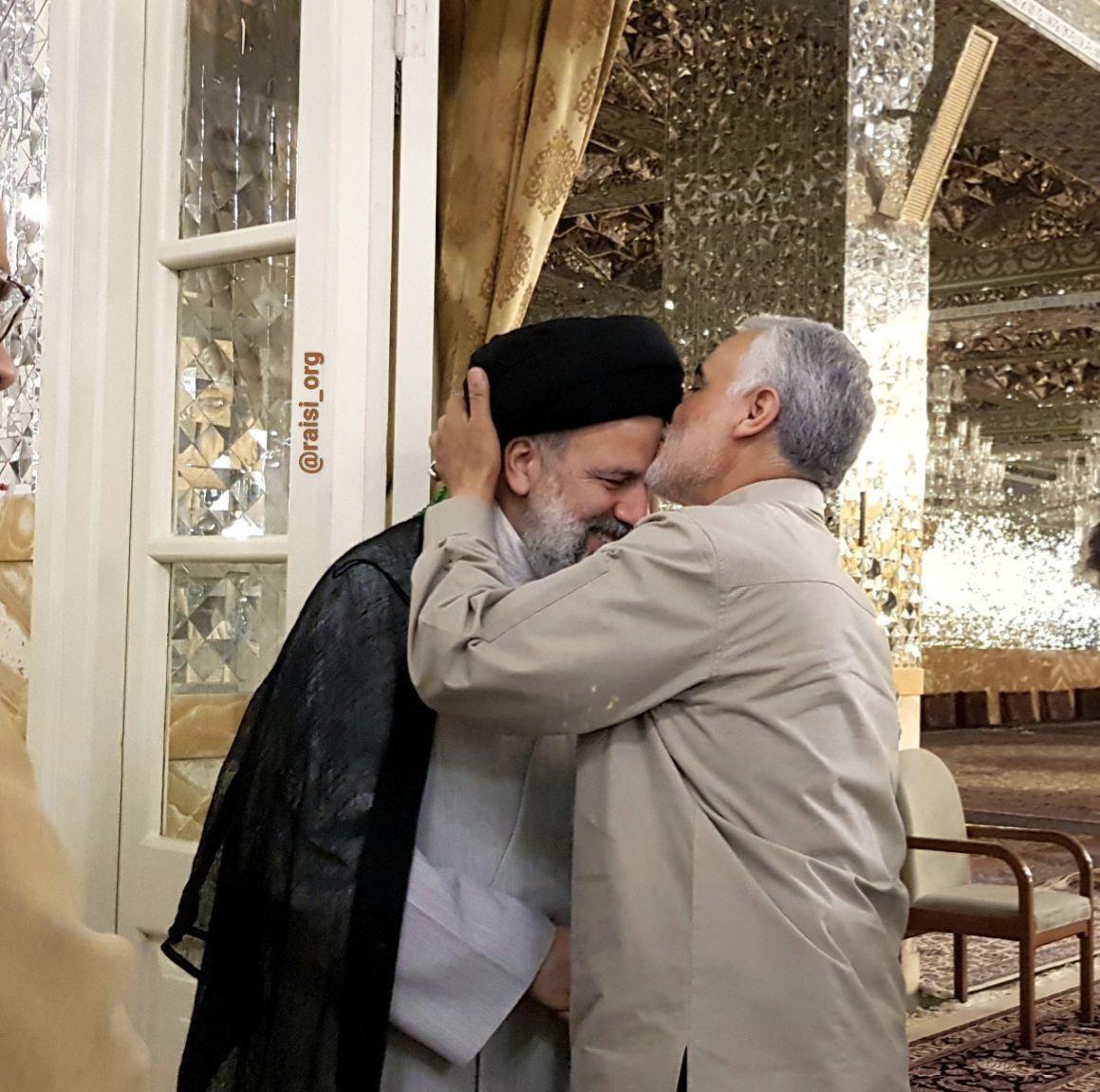 (عکس) دیدار سردار سلیمانی با رئیسی ,