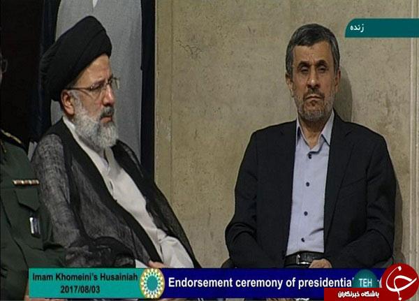 (تصاویر) اقدام جالب احمدی نژاد در مراسم تنفیذ