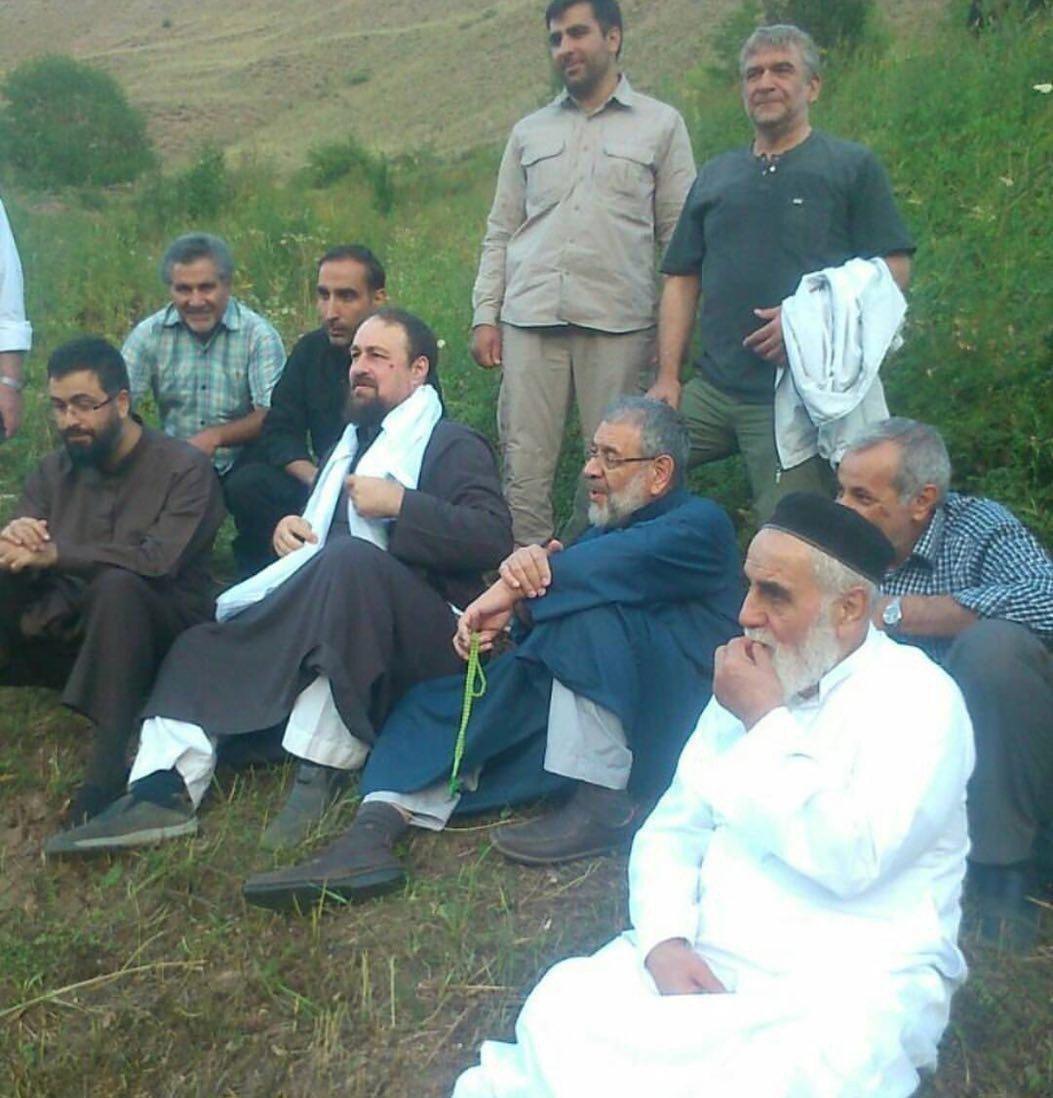 (عکس) طبیعتگردی سیدحسن خمینی و ناطقنوری