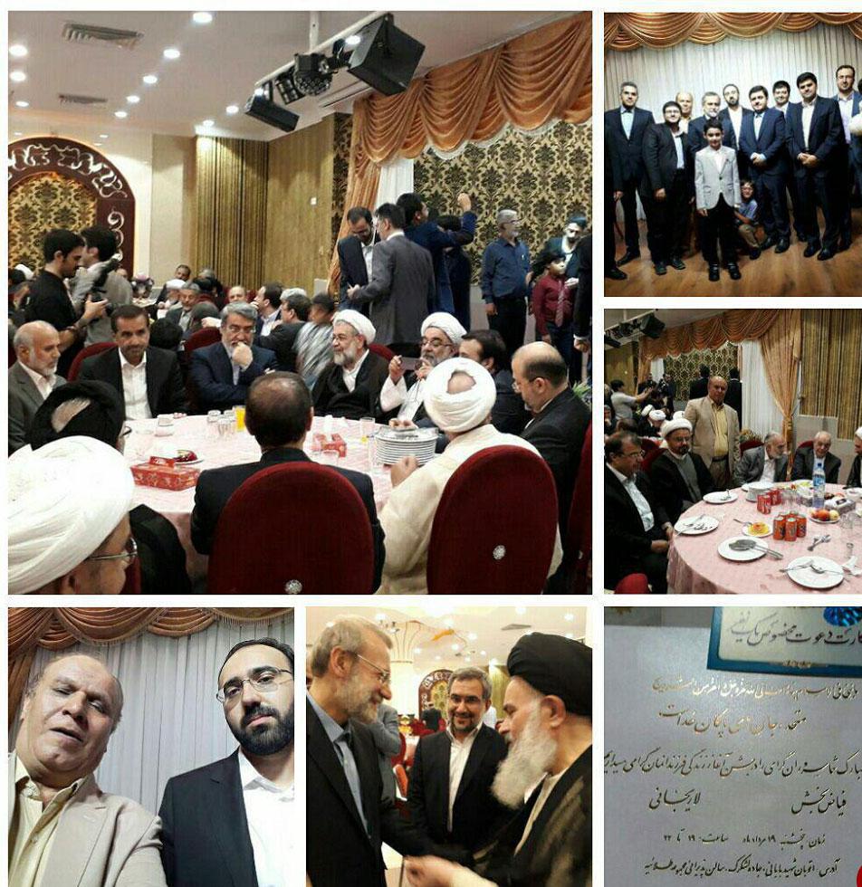 (تصویر) مراسم ازدواج پسر علی لاریجانی