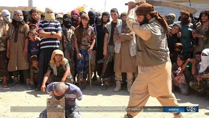 (تصاویر) اجرای 3 حکم توسط داعش