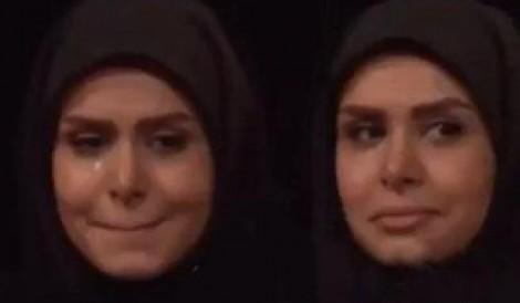 (ویدیو) گریه مجری زن تلویزیون در برنامه زنده
