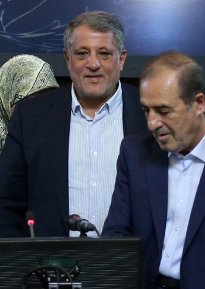 (تصاویر) انتخاب محسن هاشمی به ریاست شورا