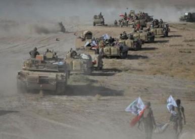 پیشروی علیه داعش در سه جبهه