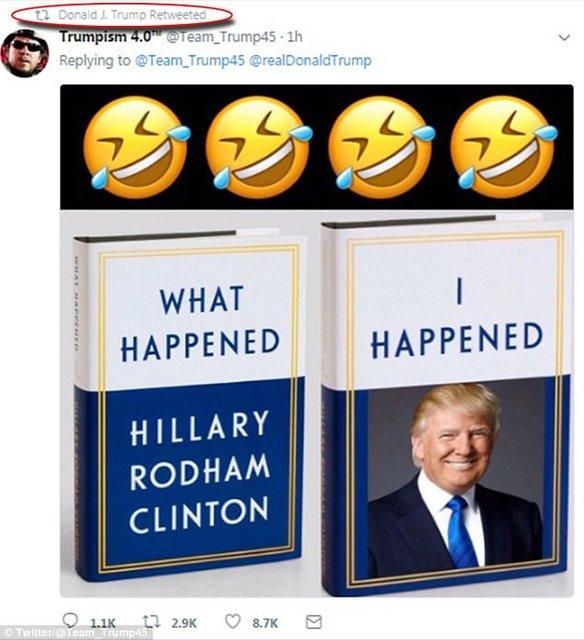 ترامپ کتاب جدید کلینتون را مسخره کرد!