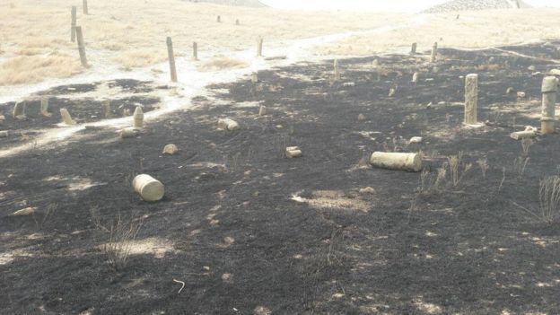 افراد ناشناس گورستان خالد نبی را آتش زدند