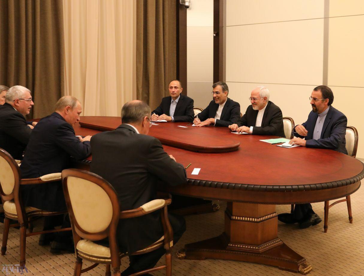 (تصاویر) ظریف با پوتین دیدار کرد