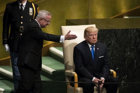 (تصاویر) اولین سخنرانی ترامپ در سازمان ملل