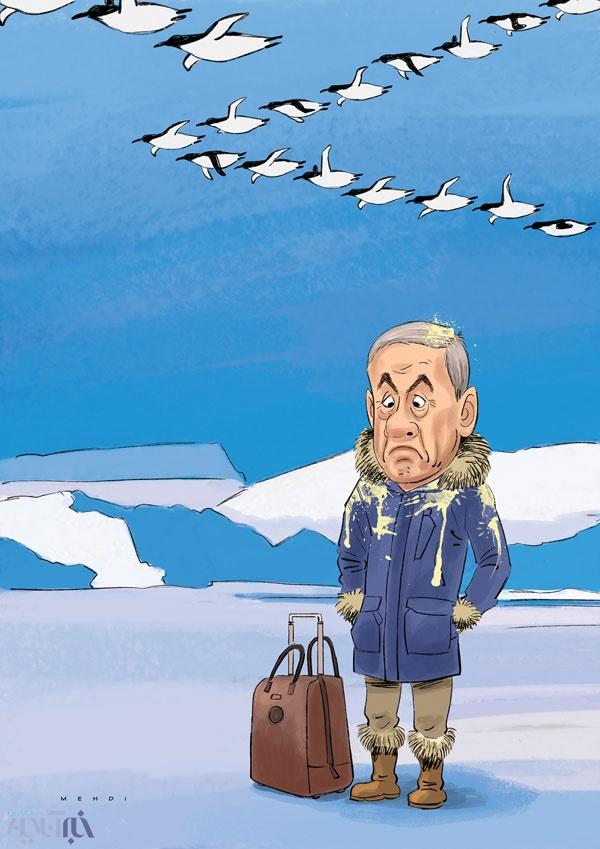 سامانه سنا اولین واکنش پنگوئنها به نتانیاهو!