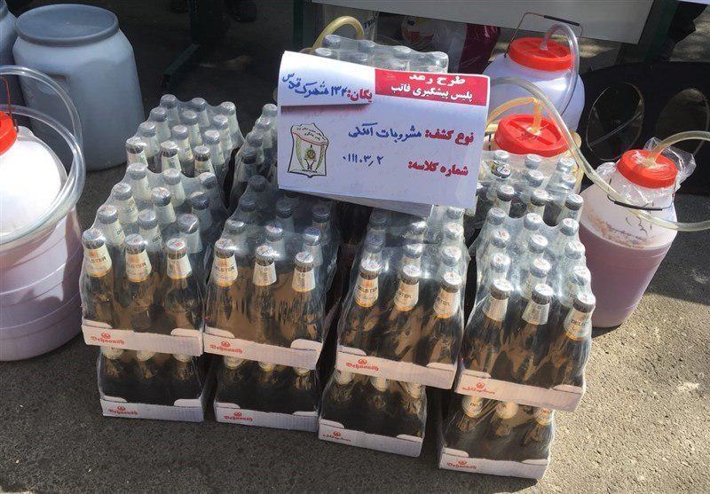 (تصویر) توزیع مشروبات الکلی در بطری دلستر