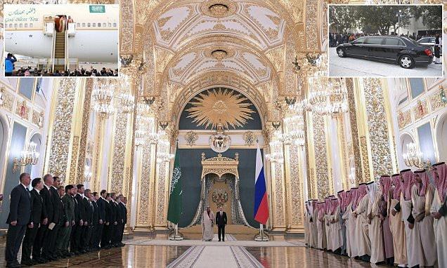 (تصاویر) ریخت و پاش شاه سعودی در روسیه!