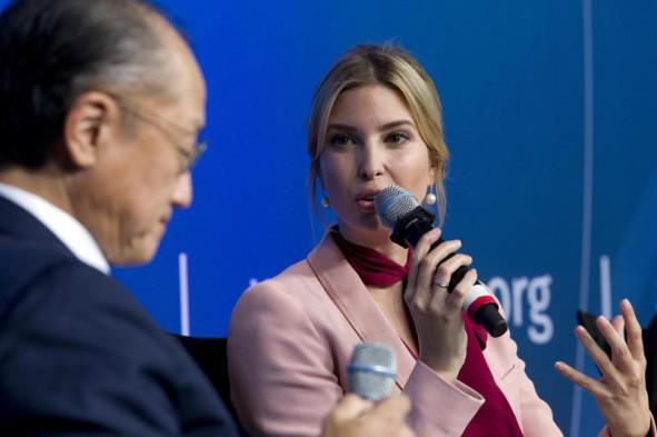 (تصاویر) دختر ترامپ میهمان نشست بانکجهانی
