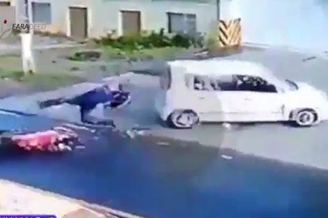 راننده مجنونی که موتورسوار را کشت و فرار کرد