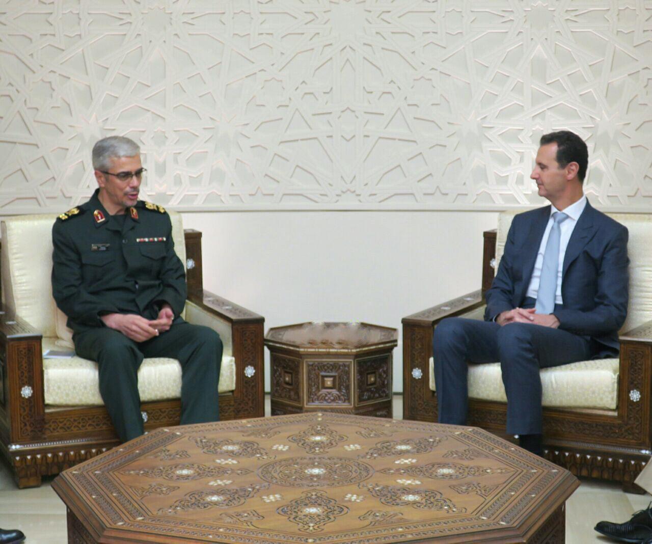 (تصویر) دیدار سرلشکر باقری با اسد