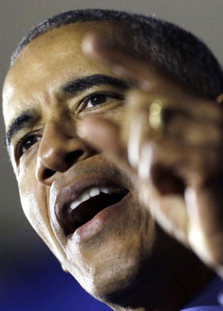 (تصاویر) بازگشت اوباما به صحنه سیاسی