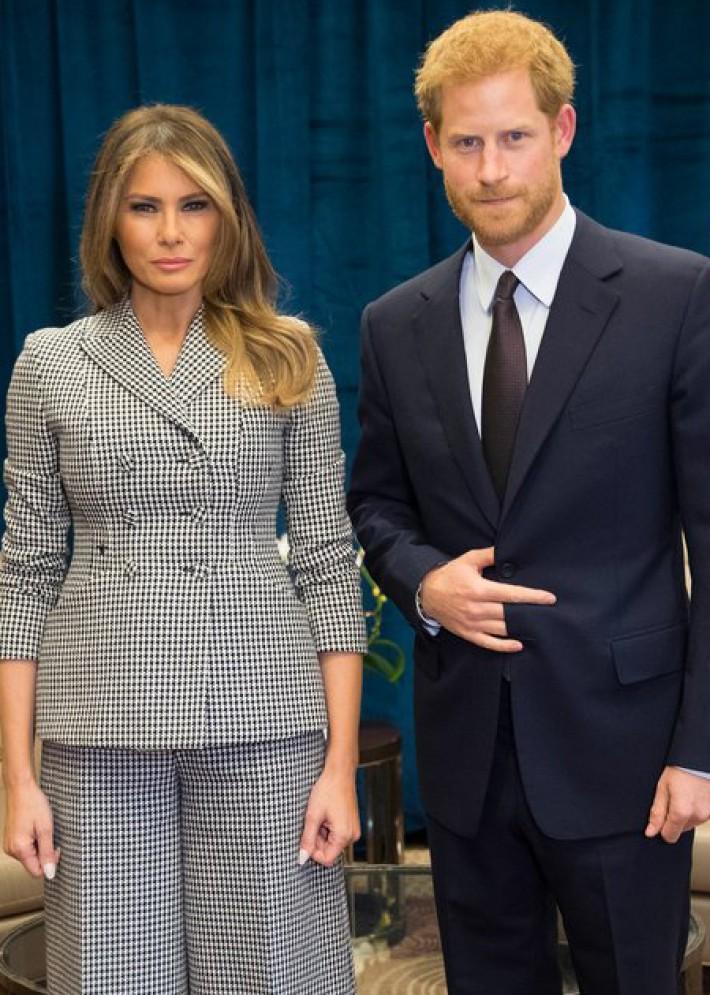 (تصاویر) عکسهای جنجالی شاهزاده هری با ملانیا ترامپ