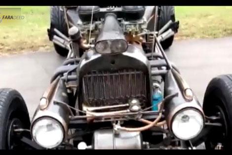 ساخت مدرنترین خودروی دنیا با استفاده از وسایل قدیمی