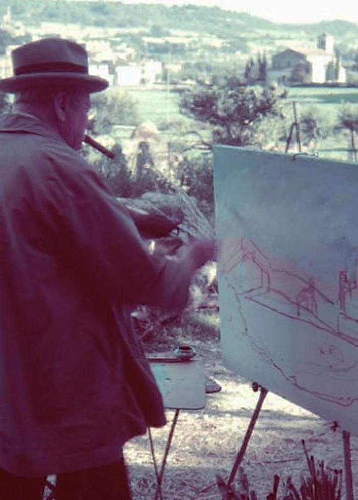 (تصاویر) آلبوم کمتردیدهشده از چرچیل در حال نقاشی
