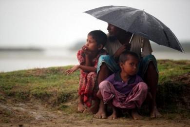 (تصاویر) رنج باران برای آوارگان میانمار