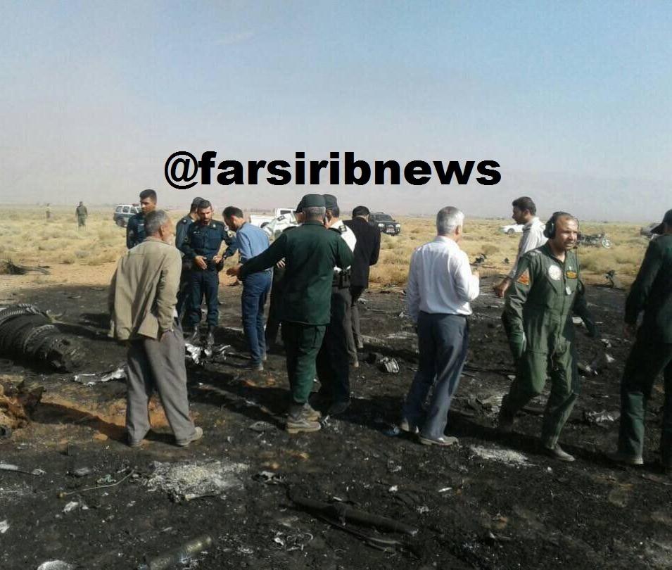 سقوط یک جنگنده سوخو 22 در استان فارس