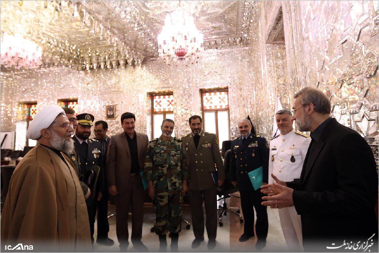 میزبانی لاریجانی از فرماندهان جدید ارتش