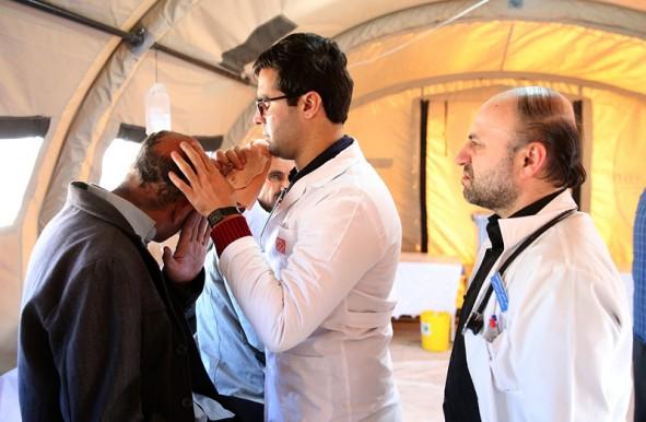 (تصاویر) بیمارستان صحرایی سرپل ذهاب