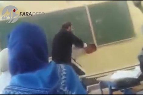 زد و خورد بین دانش آموزان و معلم در کلاس