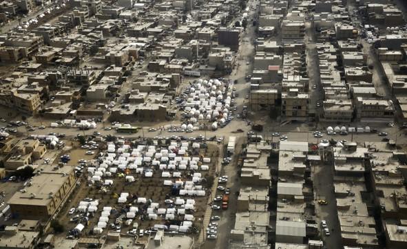 (تصاویر) تصاویر هوایی از اسکان موقت زلزلهزدگان