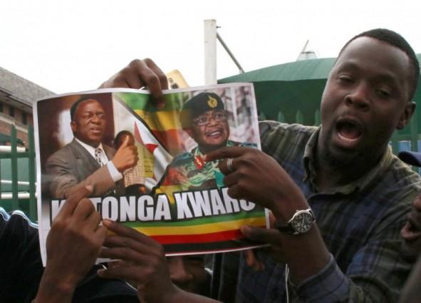 (تصاویر) جشن سقوط موگابه در زیمبابوه