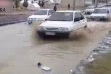 مشکلات زلزله زدگان در زمان بارش باران