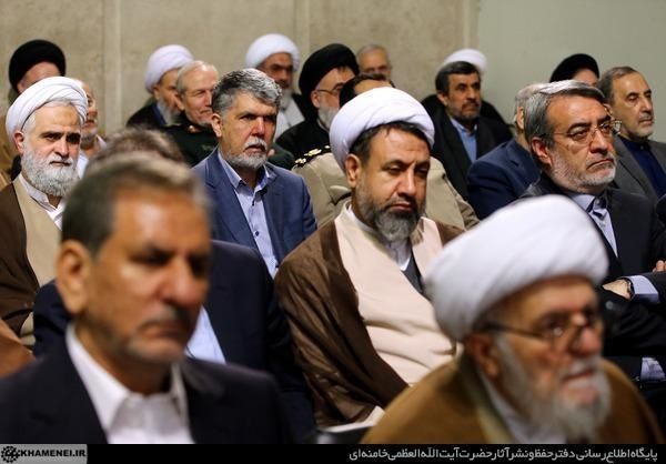 (تصاویر) احمدینژاد در دیدار مسئولان نظام با رهبر انقلاب
