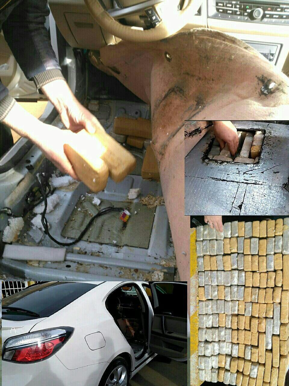 (تصویر) جاسازی ماهرانه ۷۴ کیلو هروئین