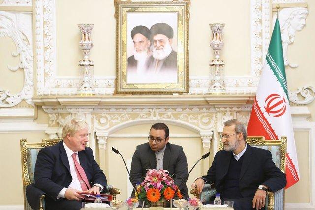دیدار وزیر خارجه انگلیس با لاریجانی