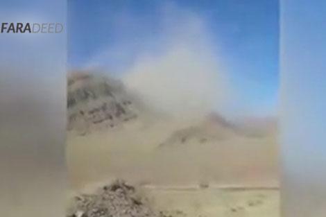 گرد و خاک زمینلرزه ۶.۲ ریشتری در کوههای کرمان