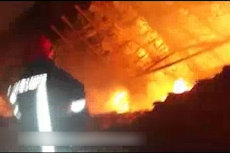 آتش سوزی کارگاه مبل و صندلی