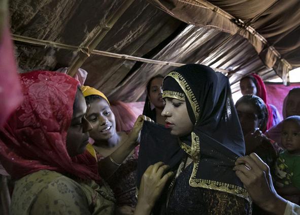(تصاویر) ازدواج اجباری کودکان آواره روهینگیایی