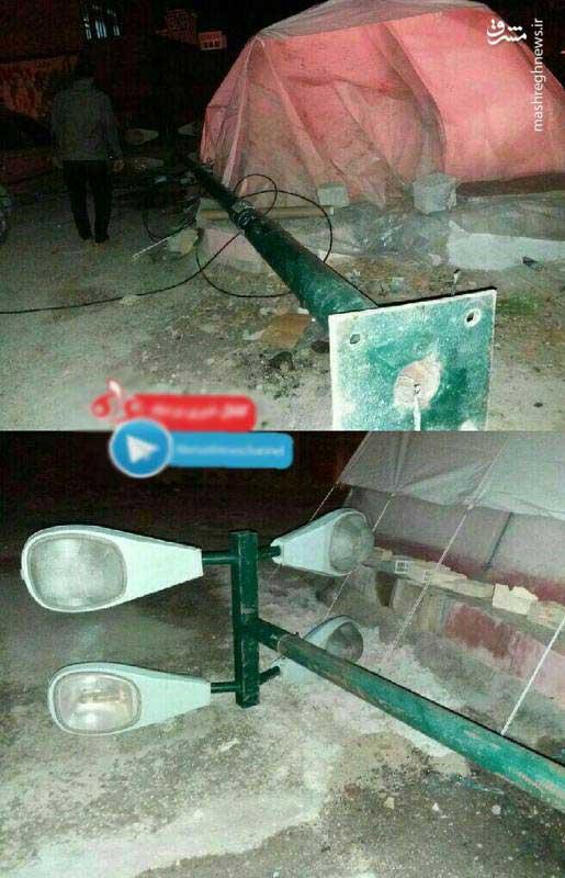 (تصویر) خطری که از بیخ گوش زلزله زدگان گذشت