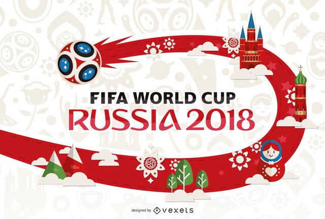 (تصویر) رونمایی از پوستر جام جهانی روسیه