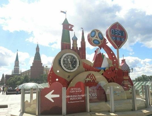(عکس) روزشمار جالب جام جهانی در میدان سرخ مسکو