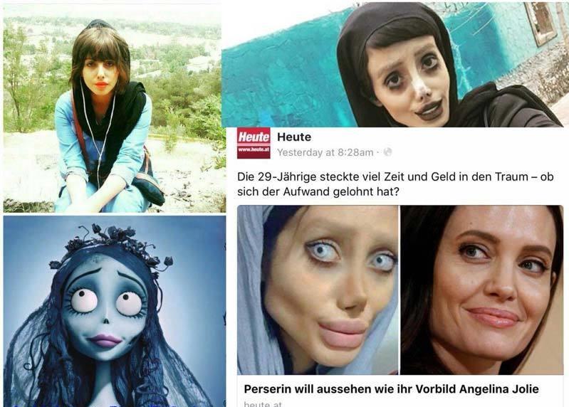 (عکس) دختر ایرانی به جای آنجلینا جولی، عروس مرده شد
