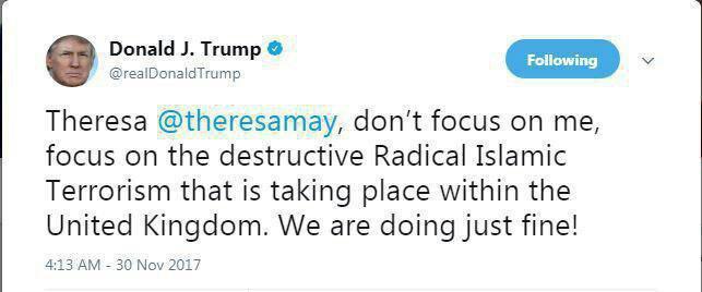 ترامپ خطاب به نخستوزیر انگلیس: روی من تمرکز نکن!
