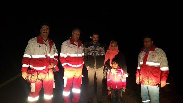 نجات سه مسافر گمشده در رودبار