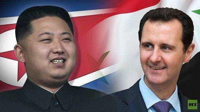 اسد به کرهشمالی دسته گل هدیه کرد
