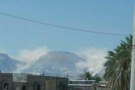 ریزش وحشتناک كوه نمک جاشک بوشهر بعد از زلزله